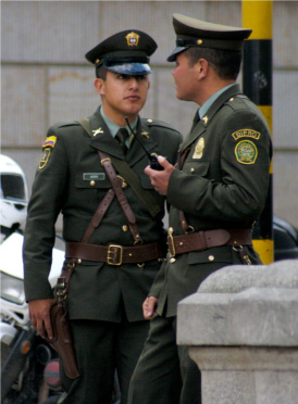 Two Colombian Senate guards