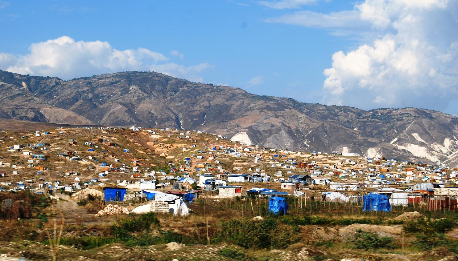 Canaan, an illegal relocation site outside Port-au-Prince.