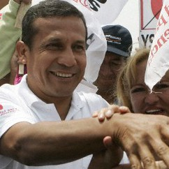 Gana Peru party leader and presidential candidate Ollanta Humala