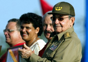 Cuban President Raúl Castro in Santa Clara (Eastern Cuba) during the celebration of the National Day, July 26, 2010.